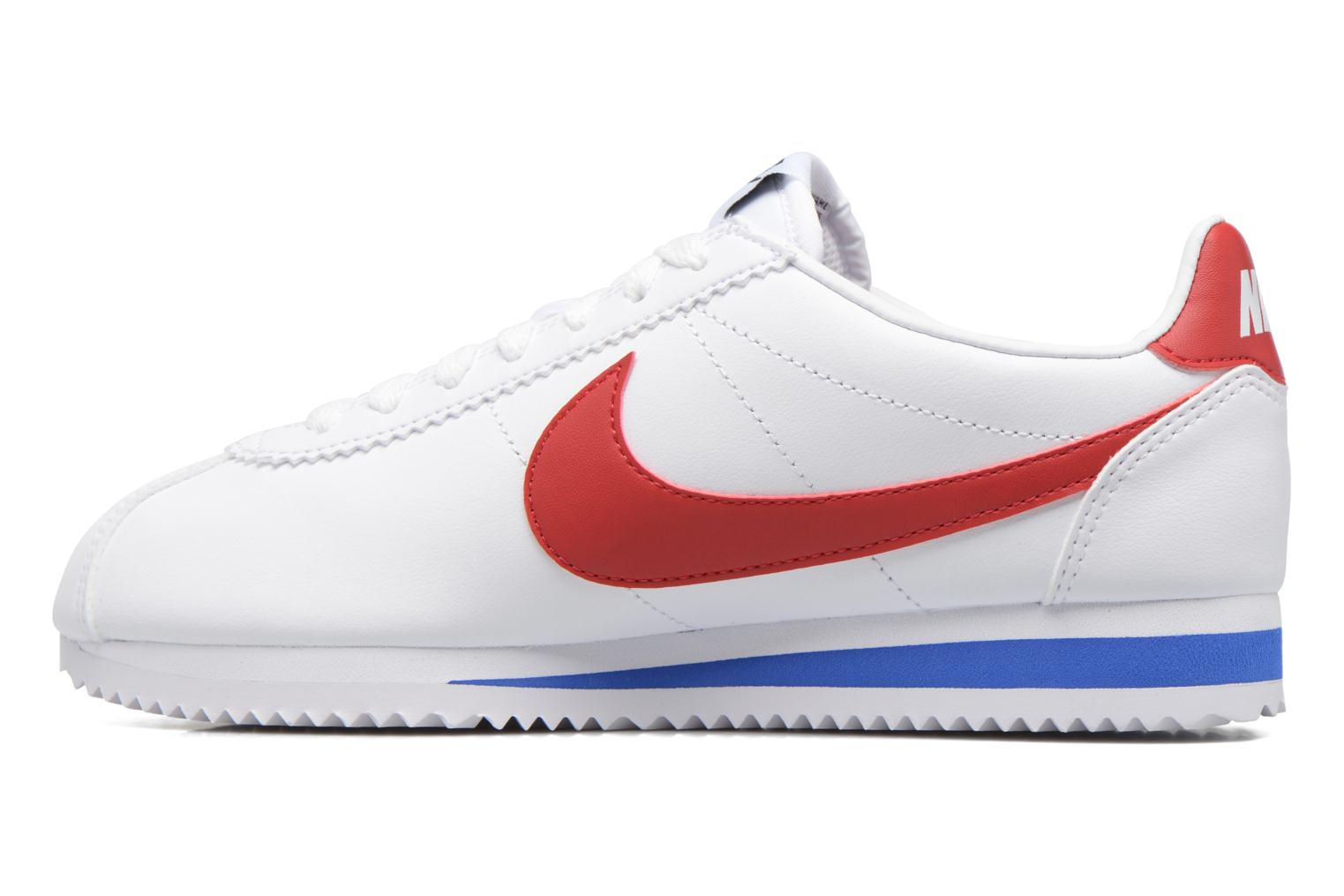 Baskets Nike Wmns Classic Cortez Leather Blanc vue face