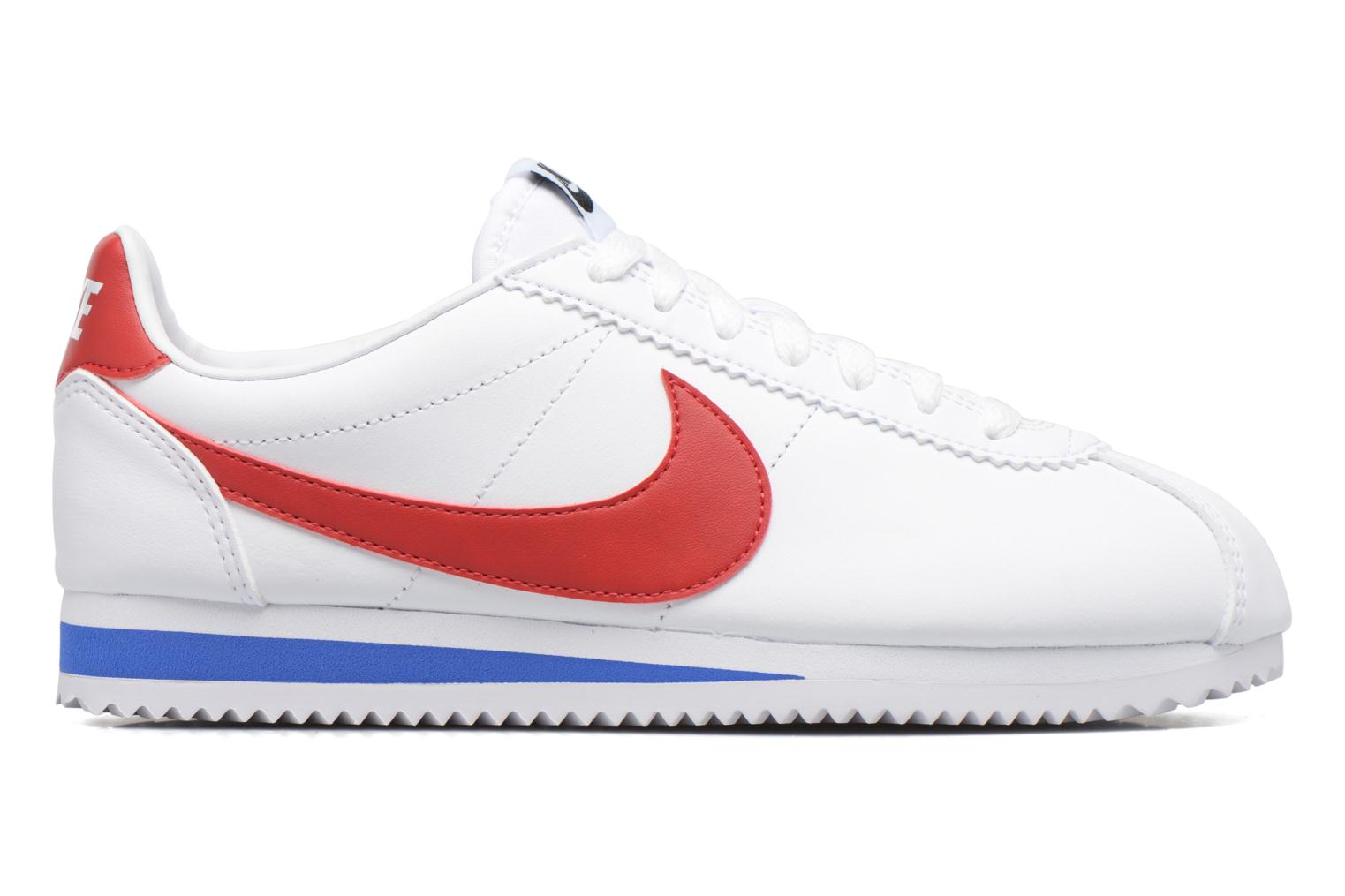 Sneakers Nike Wmns Classic Cortez Leather Hvid se bagfra