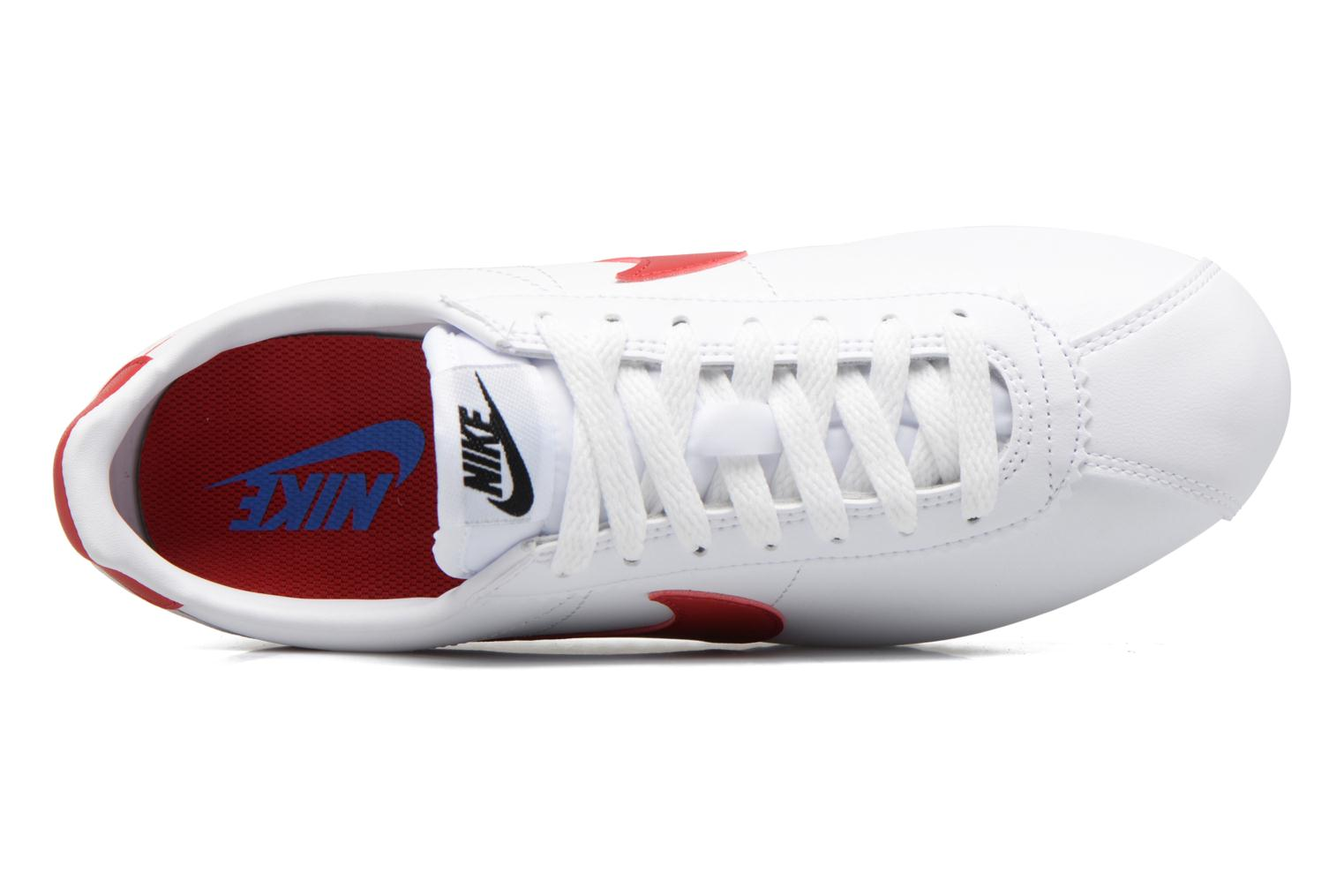 Sneakers Nike Wmns Classic Cortez Leather Bianco immagine sinistra