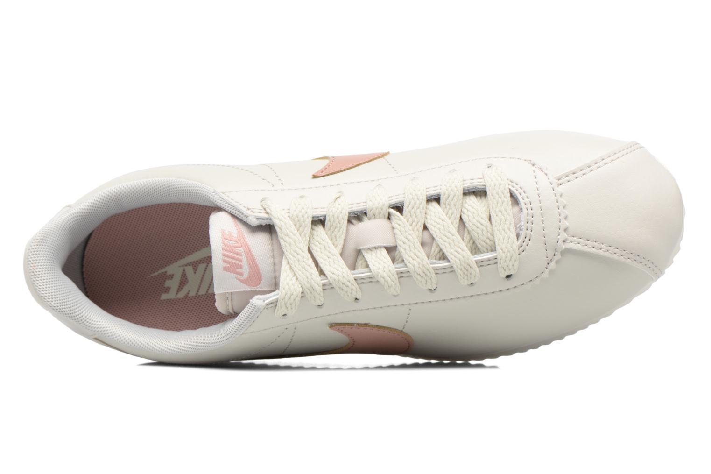 Baskets Nike Wmns Classic Cortez Leather Blanc vue gauche