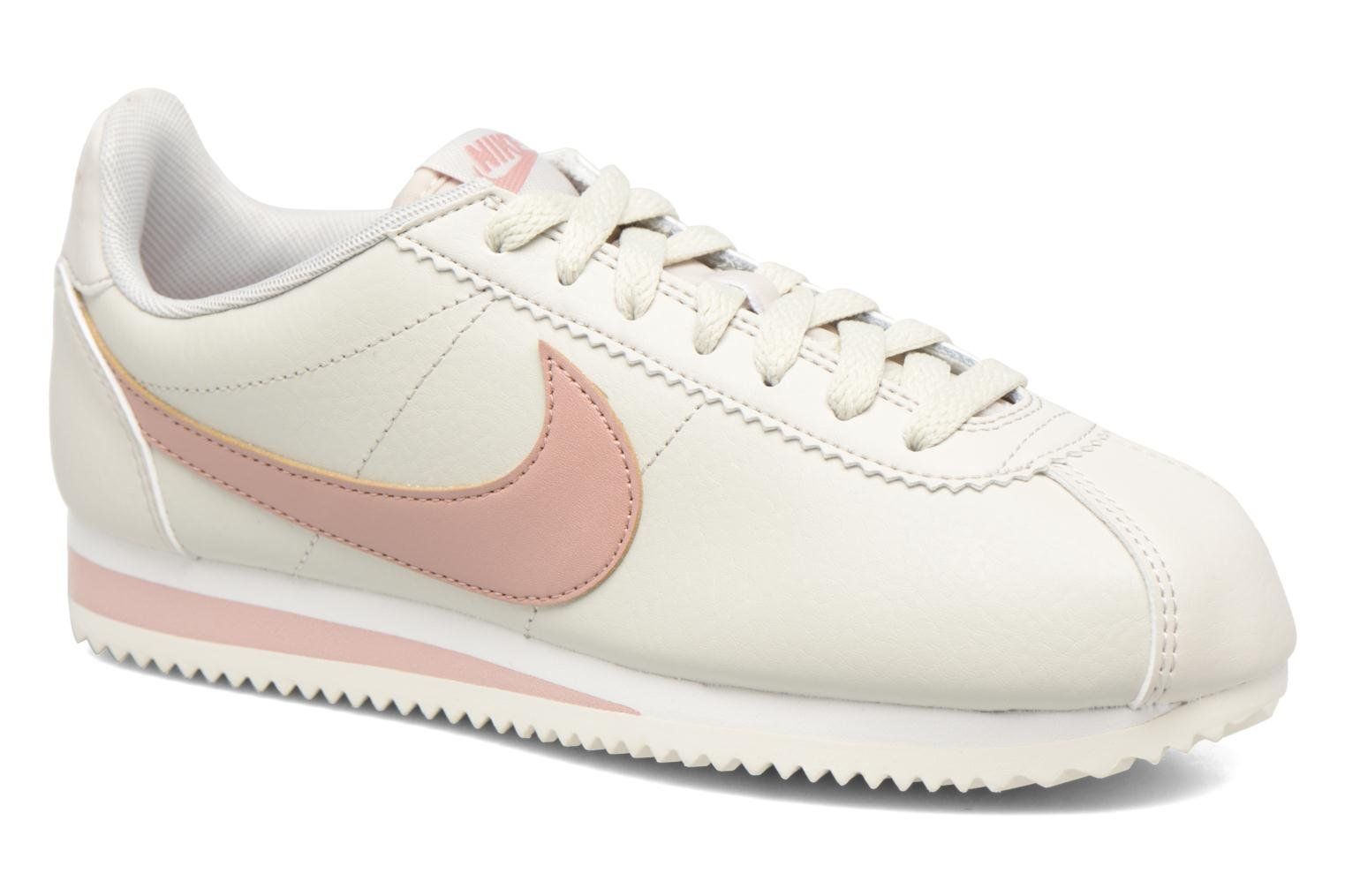Wmns Classic Cortez Leather Light Bone/Particle Pink-Summit White