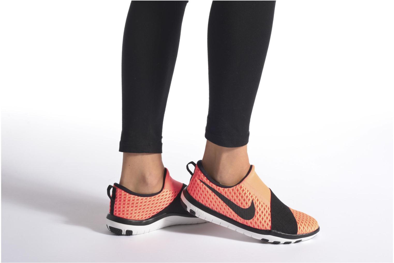 Chaussures de sport Nike Wmns Nike Free Connect Orange vue bas / vue portée sac