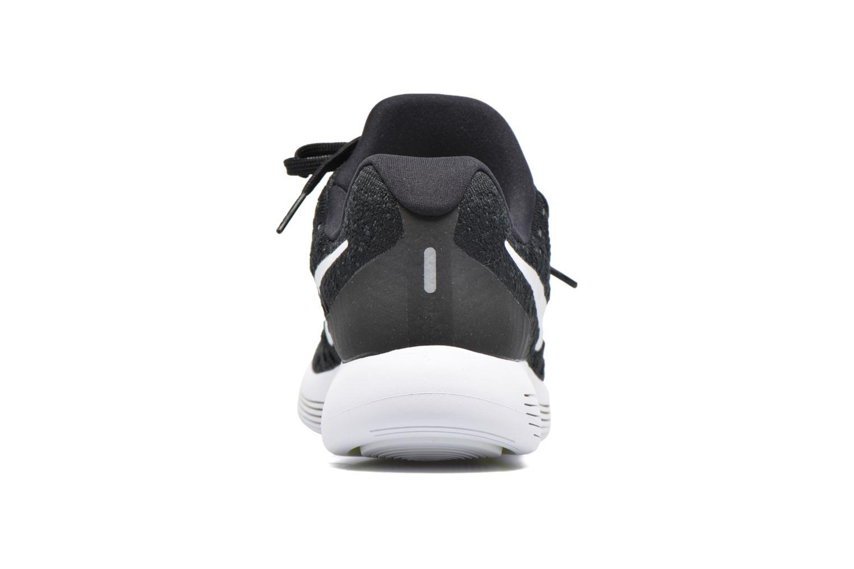 Chaussures de sport Nike Nike Lunarepic Low Flyknit 2 Noir vue droite