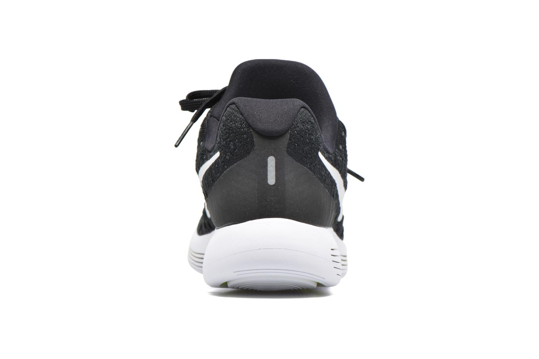 Zapatillas de deporte Nike Nike Lunarepic Low Flyknit 2 Negro vista lateral derecha