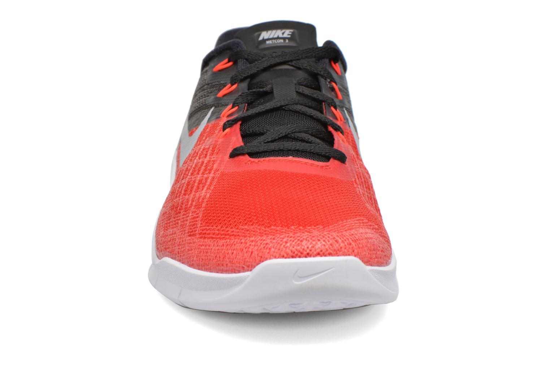 Chaussures de sport Nike Nike Metcon 3 Rouge vue portées chaussures
