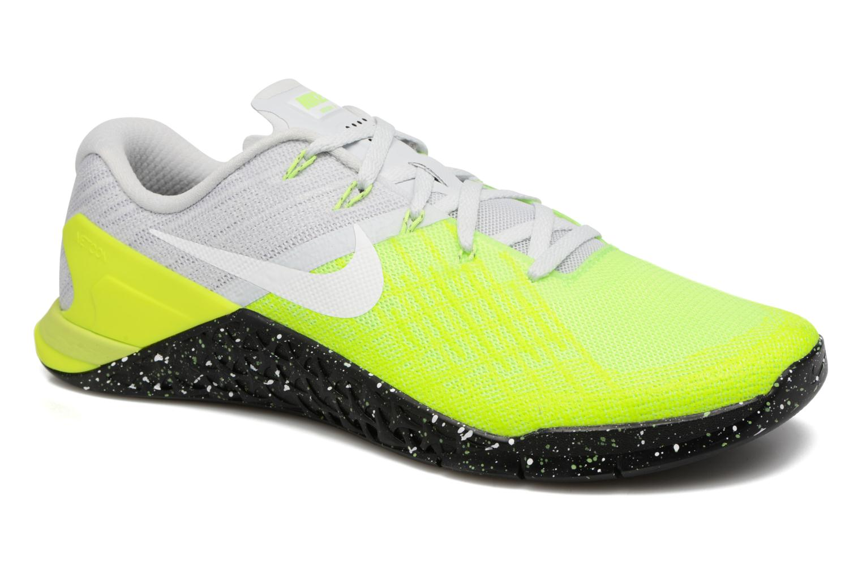 Sportssko Nike Nike Metcon 3 Gul detaljeret billede af skoene