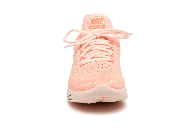 Scarpe sportive Nike W Lunarepic Low Flyknit 2 Iwd Arancione modello indossato