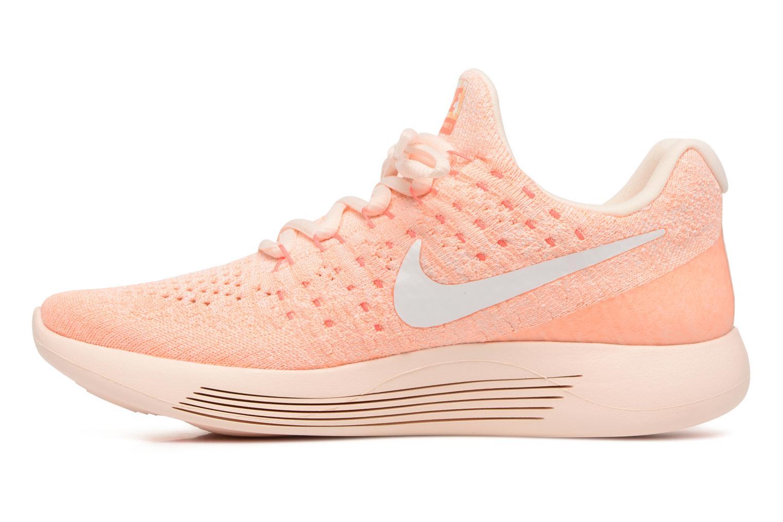Sportschoenen Nike W Lunarepic Low Flyknit 2 Iwd Oranje voorkant