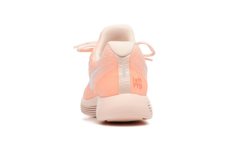 Chaussures de sport Nike W Lunarepic Low Flyknit 2 Iwd Orange vue droite