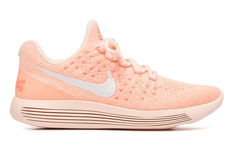 Sportschoenen Nike W Lunarepic Low Flyknit 2 Iwd Oranje achterkant