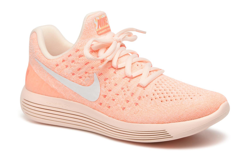 Sportssko Nike W Lunarepic Low Flyknit 2 Iwd Orange detaljeret billede af skoene
