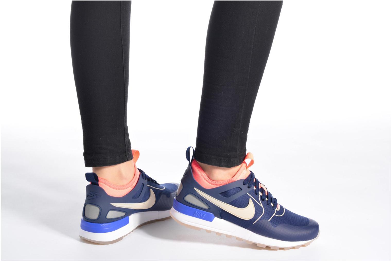 Sneaker Nike W Nike Air Pegasus 89 Tech Si blau ansicht von unten / tasche getragen