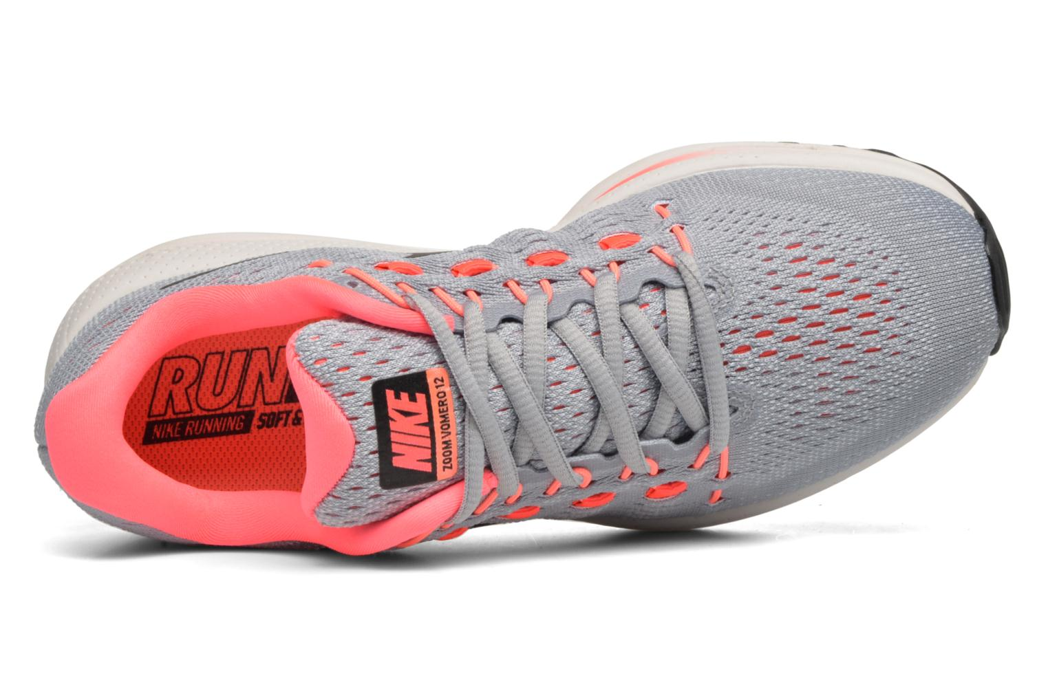 Wmns Nike Air Zoom Vomero 12 Wolf Grey/Black-Pure Platinum-Hot Punch