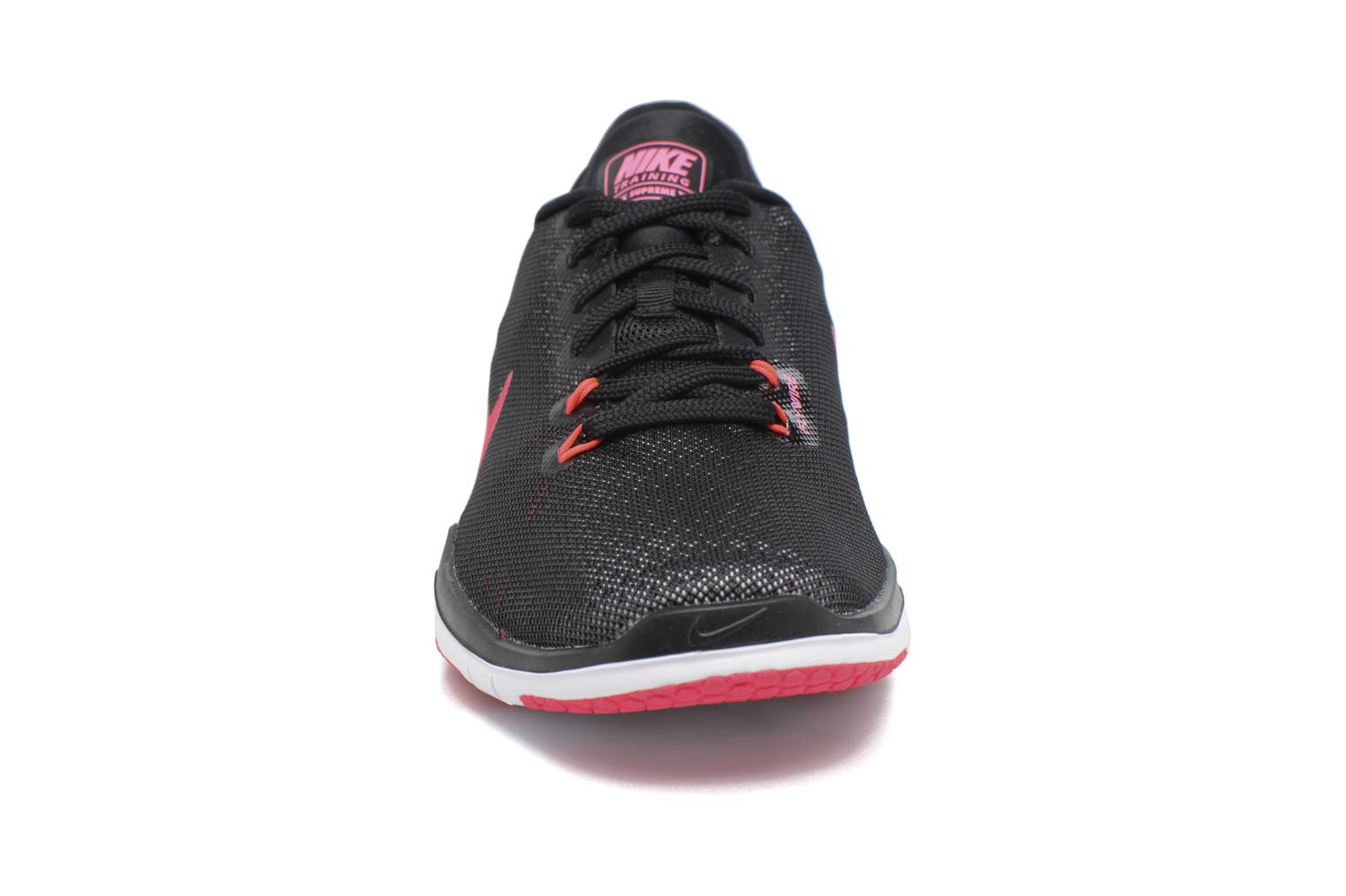 Wmns Nike Flex Supreme Tr 5 Black/White-Racer Pink-Dark Grey