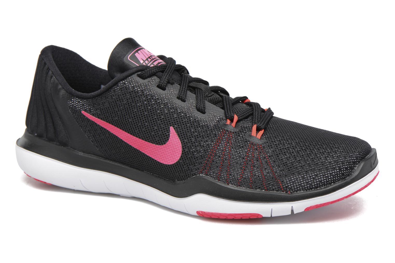 Wmns Nike Flex Supreme Tr 5 Black/White-Racer Pink-Dark Grey