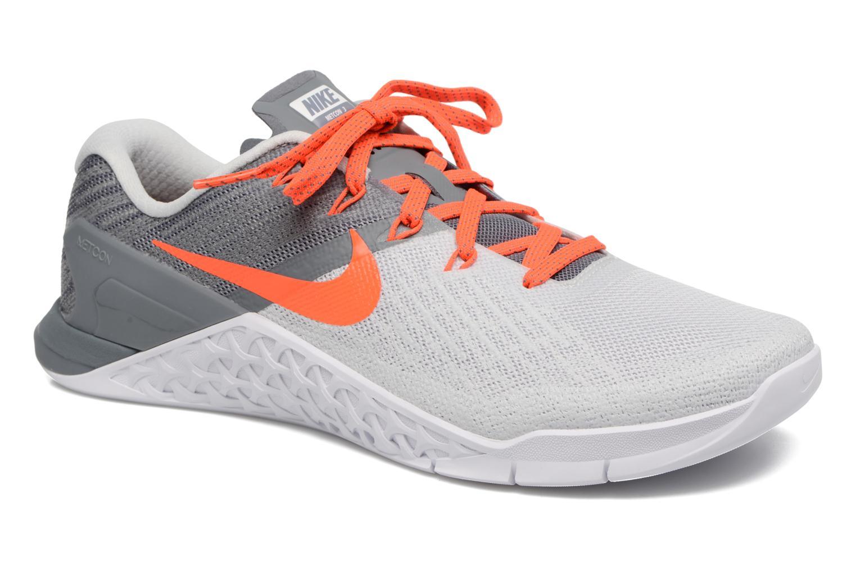 Chaussures de sport Nike Wmns Nike Metcon 3 Gris vue détail/paire