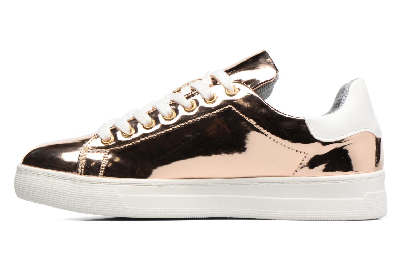 Deportivas I Love Shoes MC ETASSI Oro y bronce vista de frente