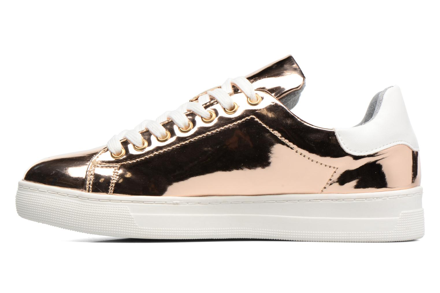 Trainers I Love Shoes MC ETASSI Bronze and Gold front view