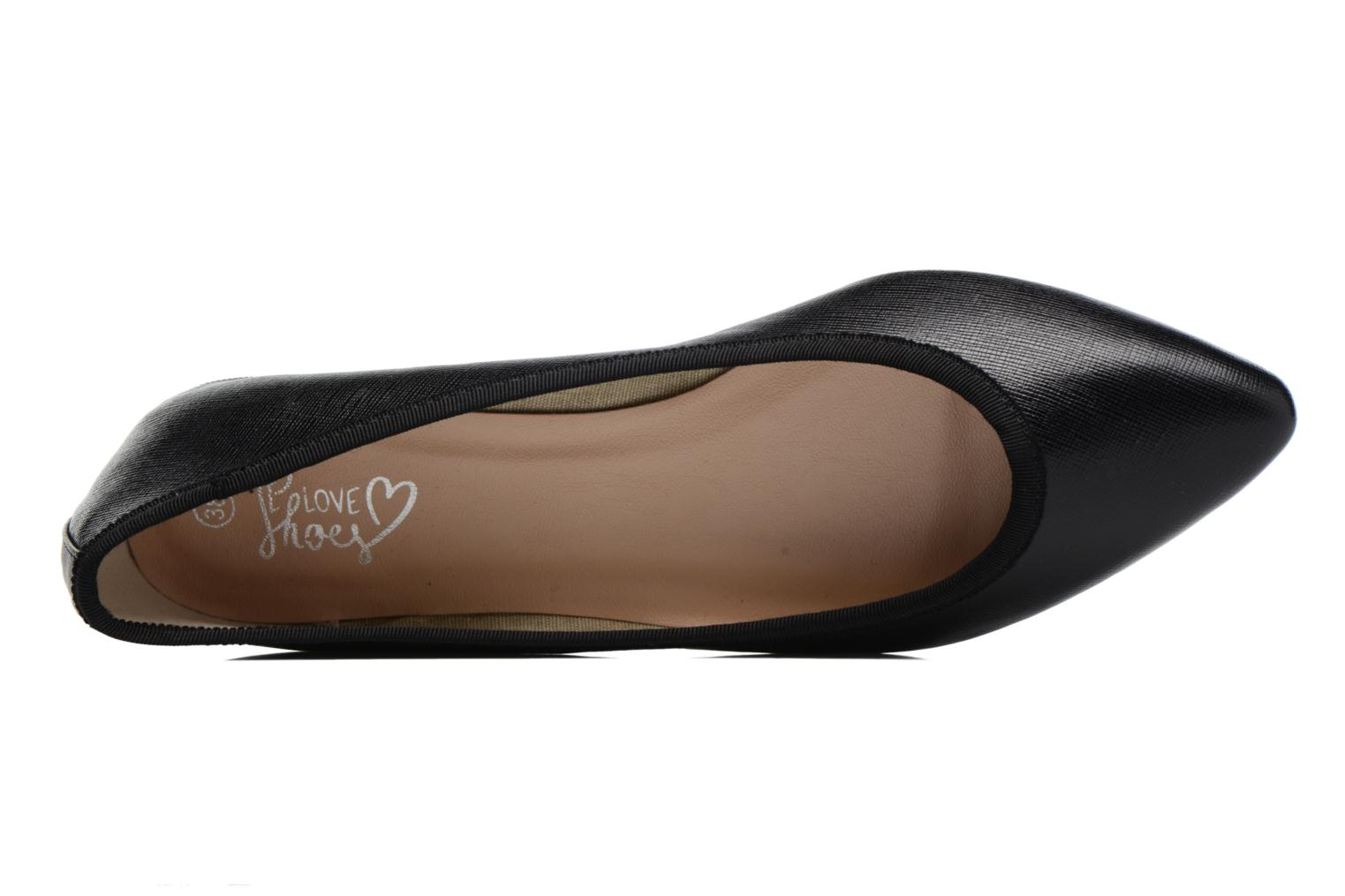 Ballet pumps I Love Shoes MC ANAS Black view from the left