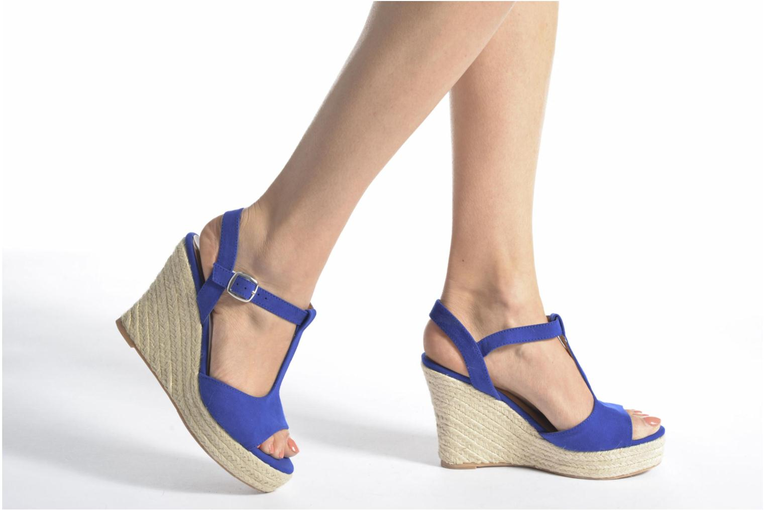 Espadrilles I Love Shoes MCADA Yellow view from underneath / model view