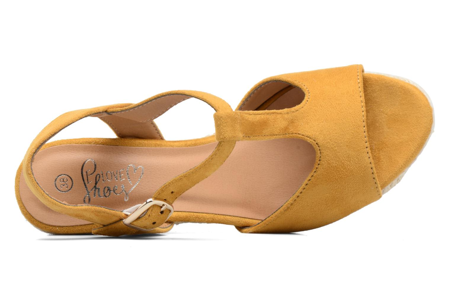 Alpargatas I Love Shoes MCADA Amarillo vista lateral izquierda