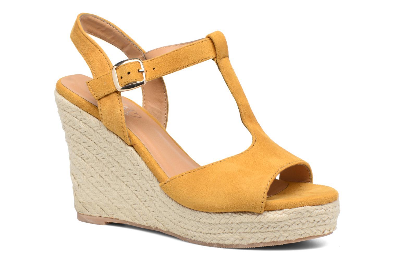 Espadrilles I Love Shoes MCADA Jaune vue détail/paire