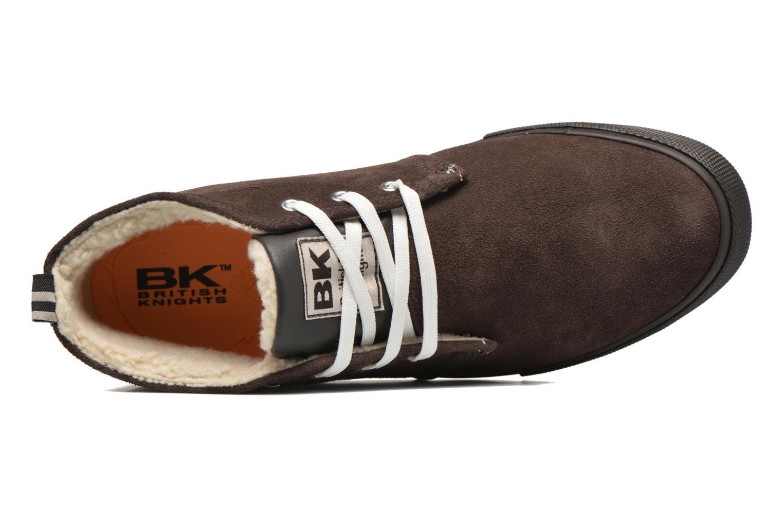 Sneaker British Knights Devon Mid braun ansicht von links