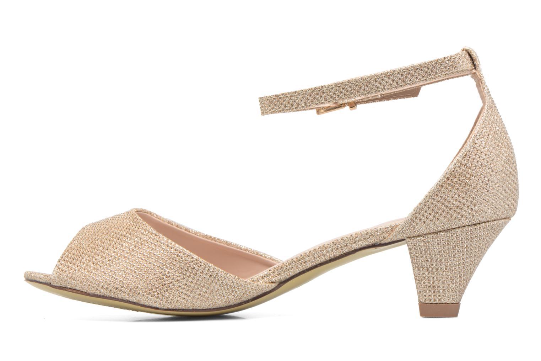 Sandales et nu-pieds Dorothy Perkins Richemond Or et bronze vue face