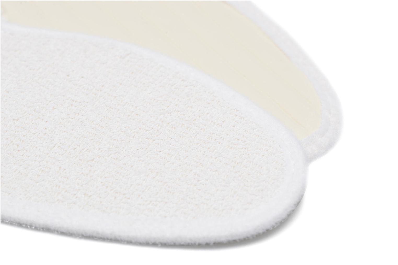 Solette Sarenza care Semelle Bouclette Coton Femme Bianco immagine dall'alto