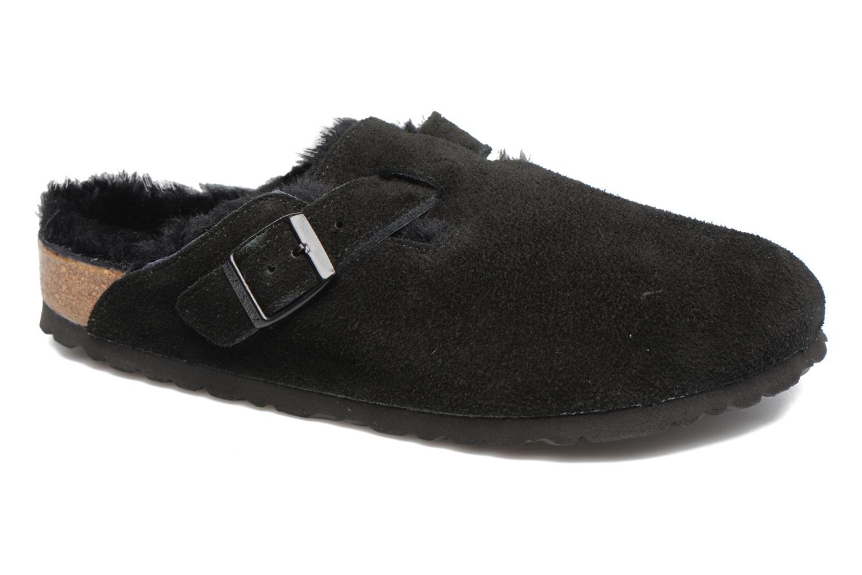 Zapatos de moda hombres y mujeres de moda de casual Birkenstock Boston Sheepskin W (Negro) - Pantuflas en Más cómodo 4dd449