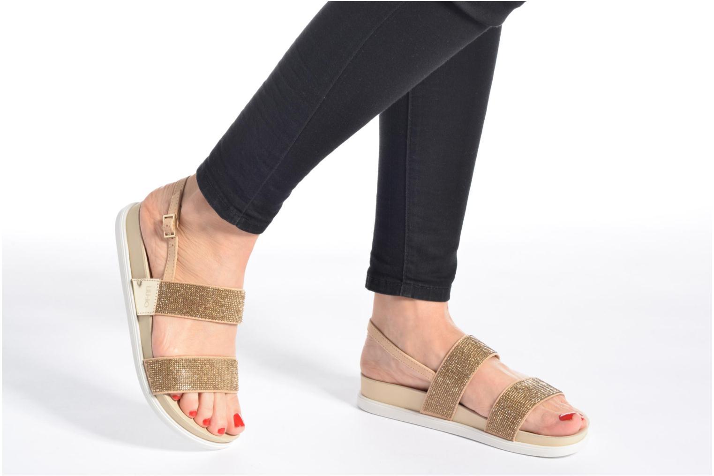 Sandales et nu-pieds Liu Jo Sandale Foot Bed Naoko Or et bronze vue bas / vue portée sac