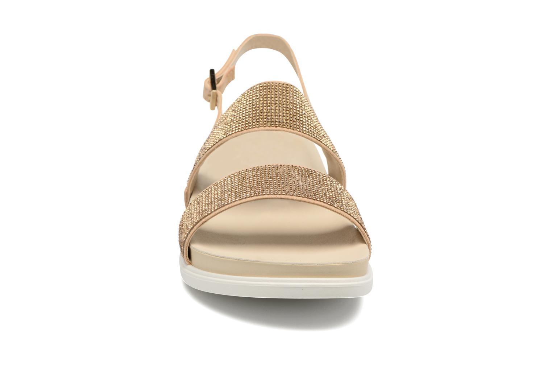 Sandales et nu-pieds Liu Jo Sandale Foot Bed Naoko Or et bronze vue portées chaussures