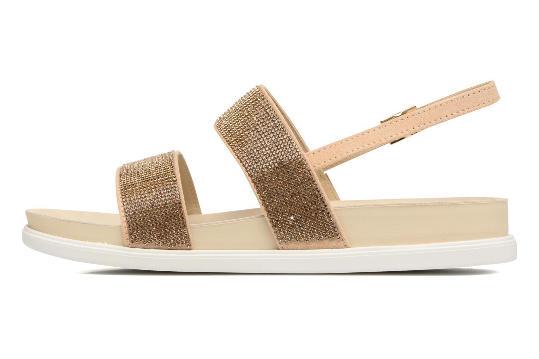 Sandales et nu-pieds Liu Jo Sandale Foot Bed Naoko Or et bronze vue face