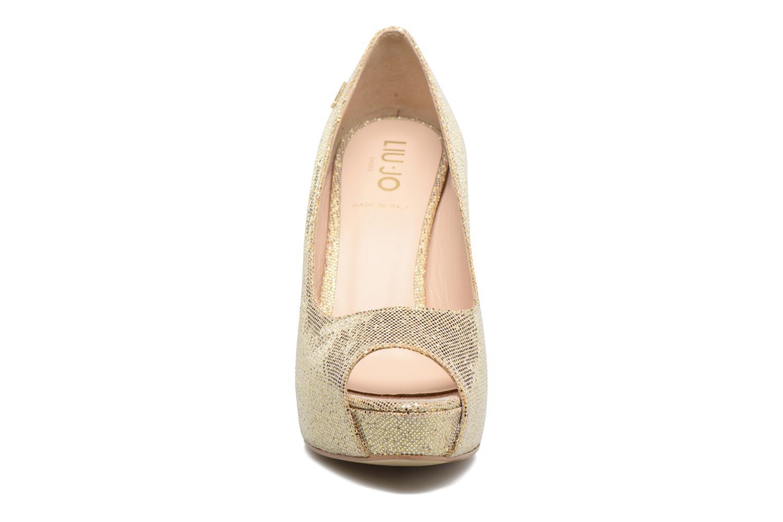 Escarpins Liu Jo Open Toe Saori Or et bronze vue portées chaussures