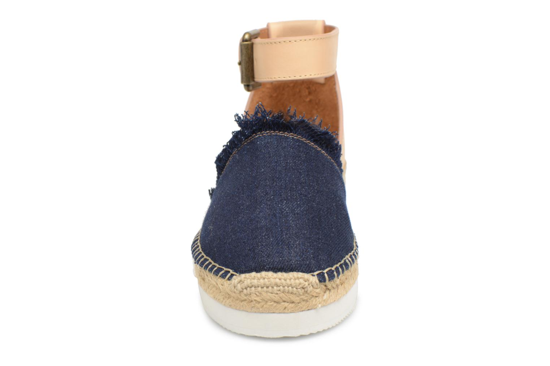 Espadrilles See by Chloé Glyn Flat Bleu vue portées chaussures