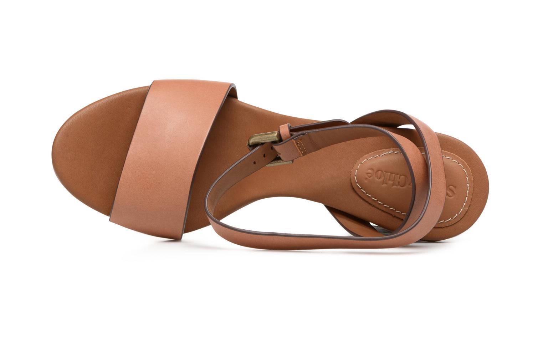 Sandales et nu-pieds See by Chloé Arina Beige vue gauche