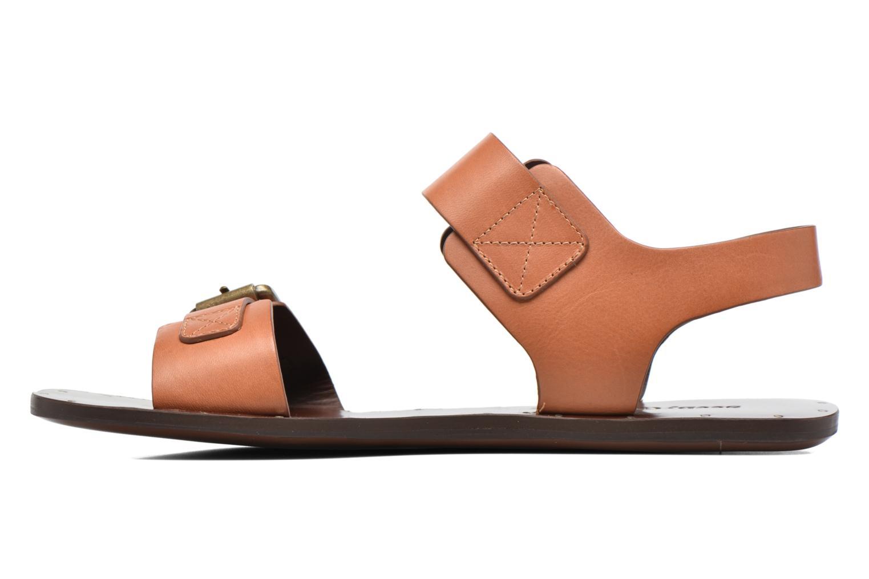 Sandales et nu-pieds See by Chloé Romy Flat Beige vue face