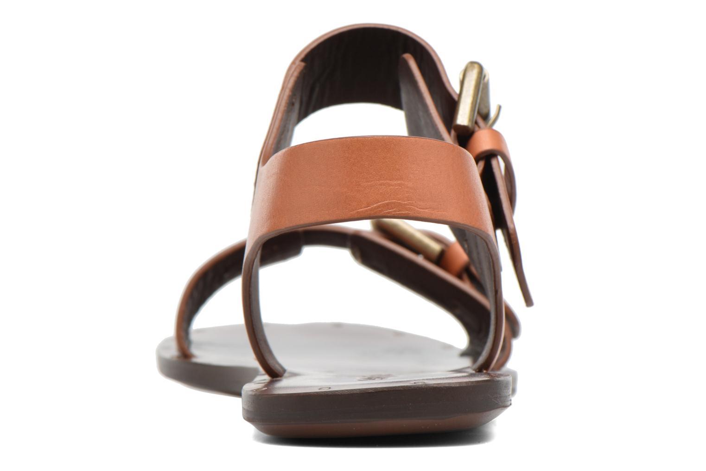 Sandales et nu-pieds See by Chloé Romy Flat Beige vue droite