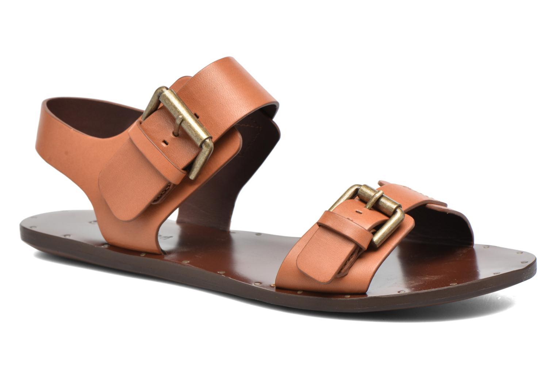 Sandales et nu-pieds See by Chloé Romy Flat Beige vue détail/paire