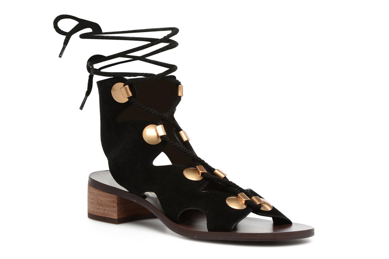 Sandaler See by Chloé Edna Sort detaljeret billede af skoene