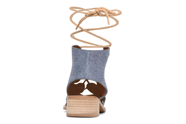 Sandales et nu-pieds See by Chloé Edna Bleu vue droite