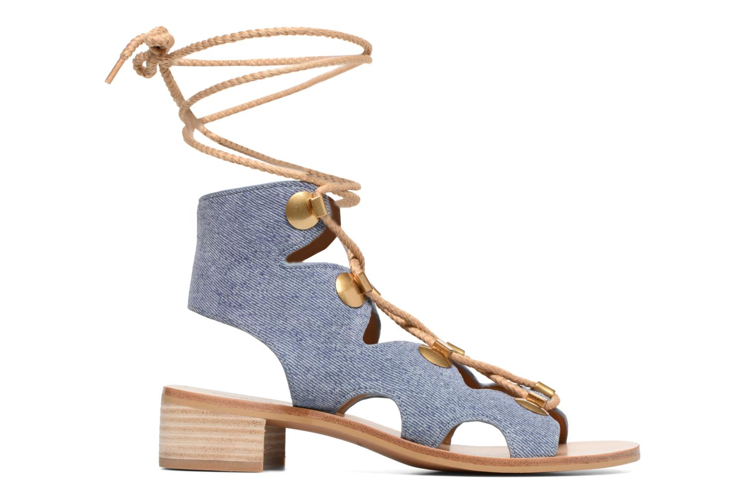 Sandals See by Chloé Edna Blue back view