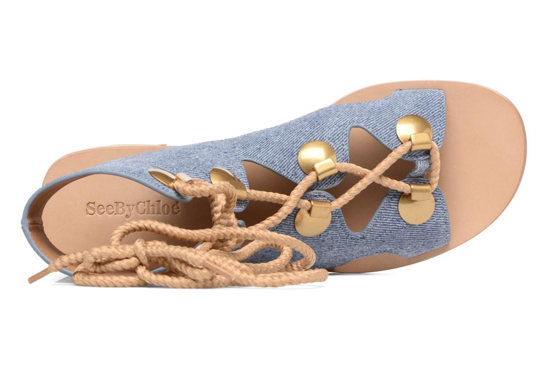 Sandali e scarpe aperte See by Chloé Edna Azzurro immagine sinistra