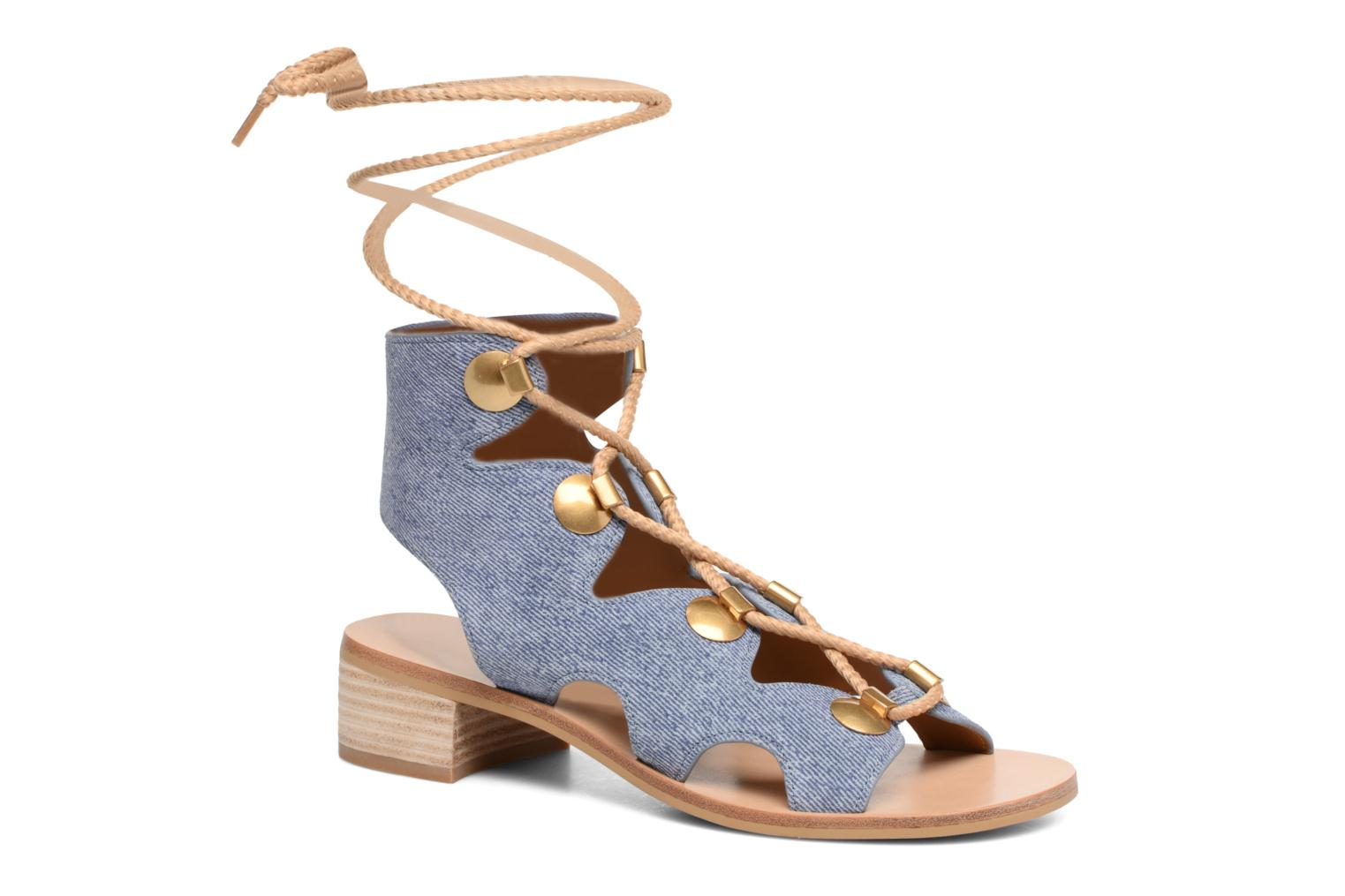 Sandals See by Chloé Edna Blue detailed view/ Pair view