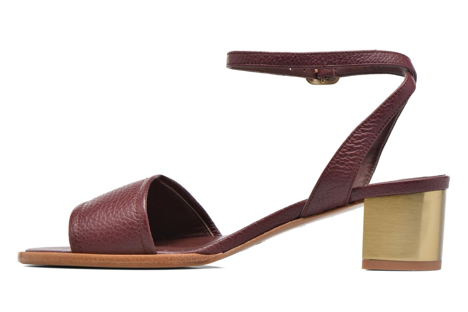 Sandals Avril Gau Until Burgundy front view