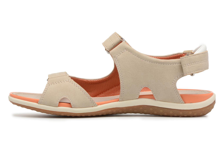 Sandali e scarpe aperte Geox D SAND.VEGA A D52R6A Beige immagine frontale