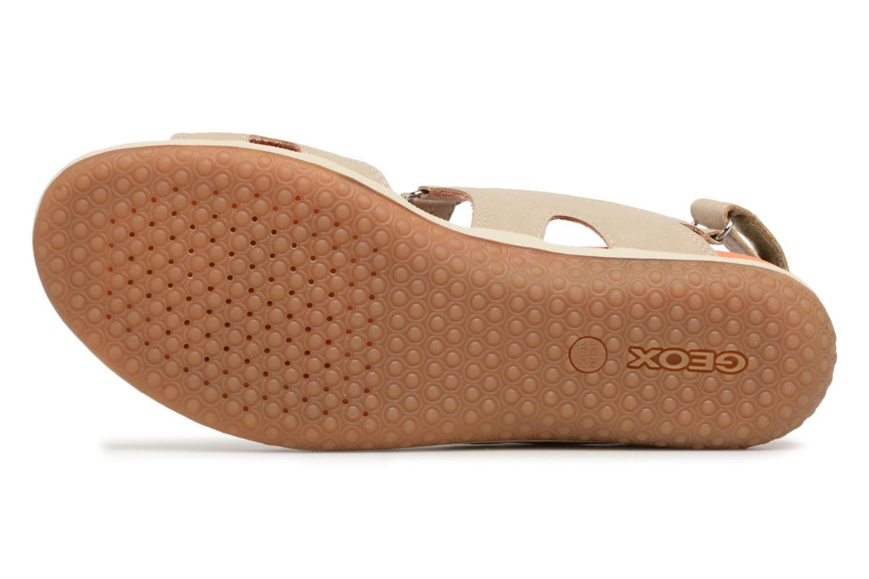 Sandali e scarpe aperte Geox D SAND.VEGA A D52R6A Beige immagine dall'alto