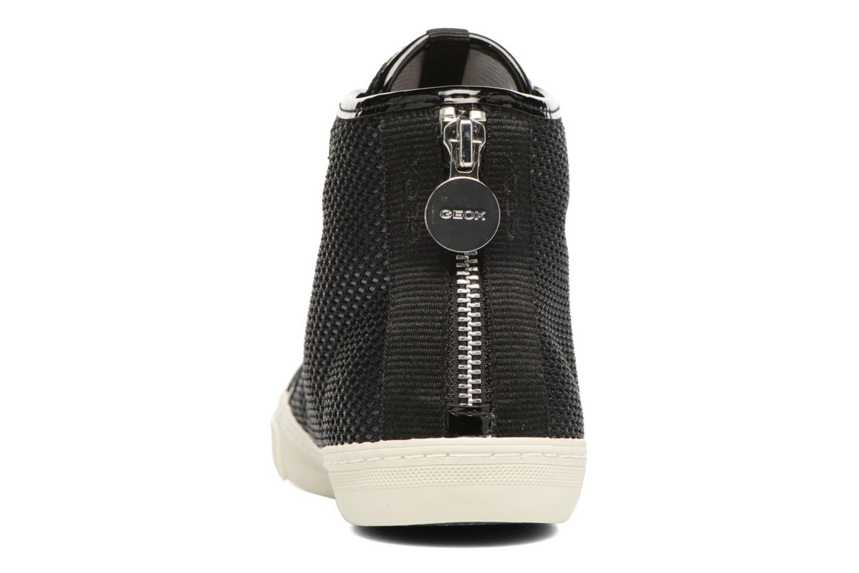 Baskets Geox D NEW CLUB E D5458E Noir vue droite
