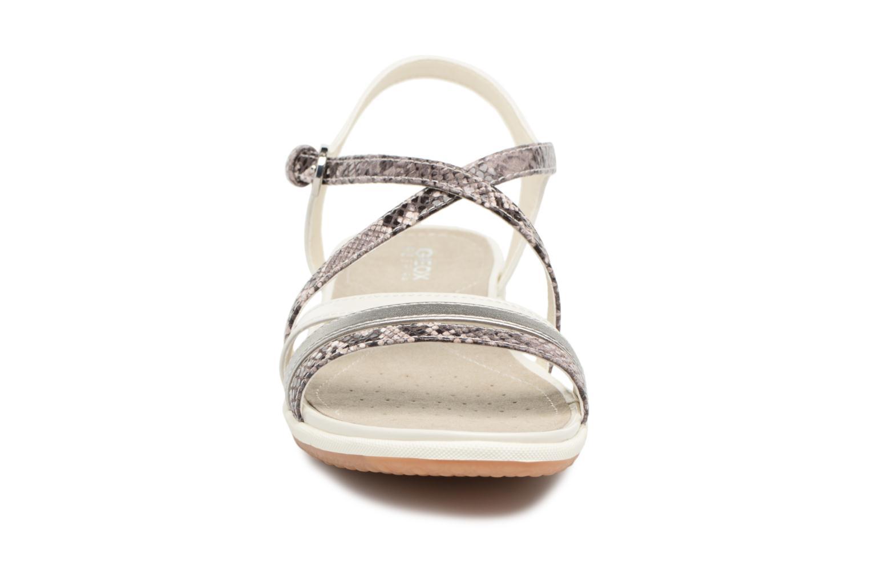 Sandali e scarpe aperte Geox D SAND.VEGA C D62R6C Grigio modello indossato