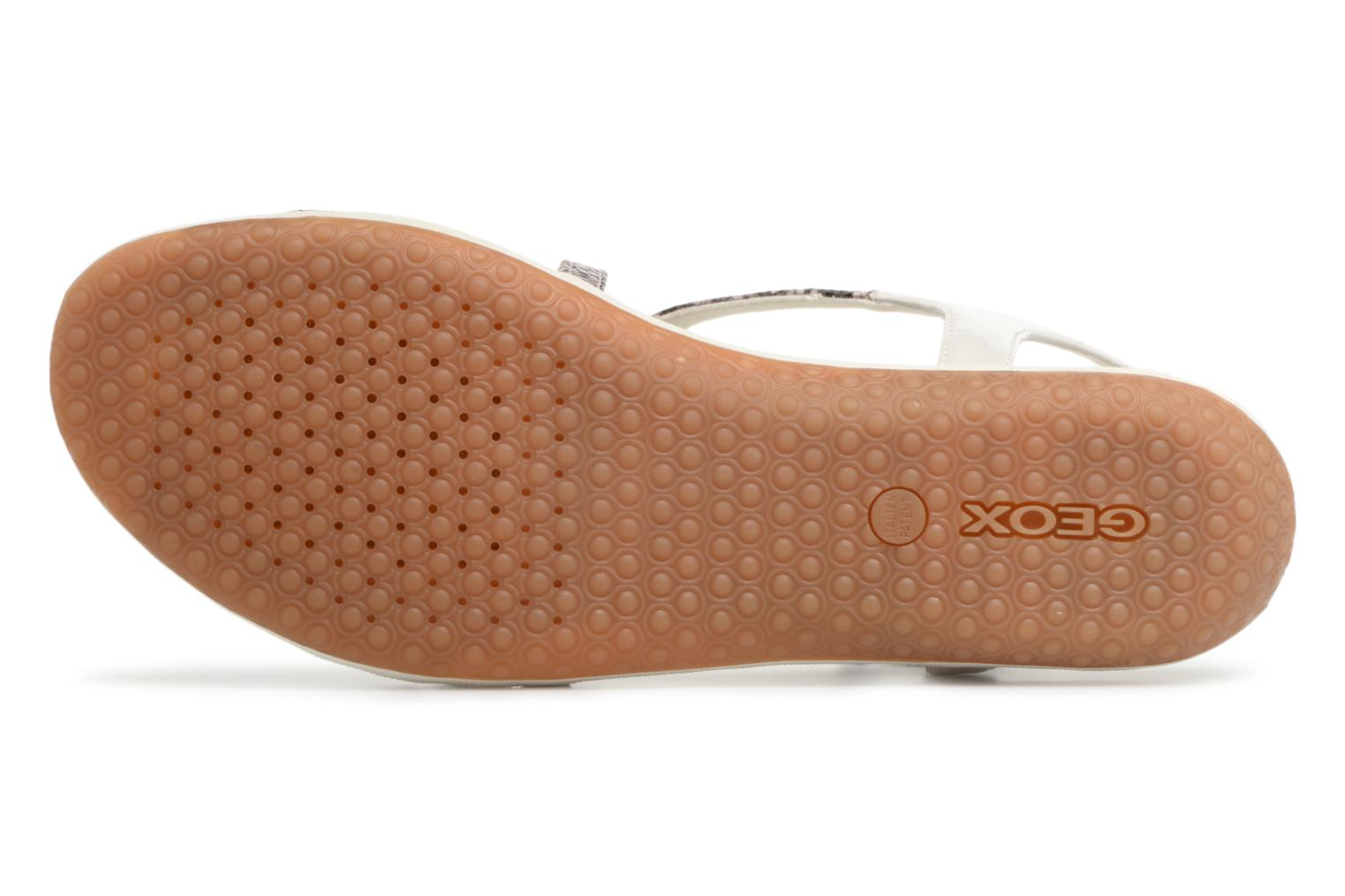 Sandals Geox D SAND.VEGA C D62R6C Grey view from above
